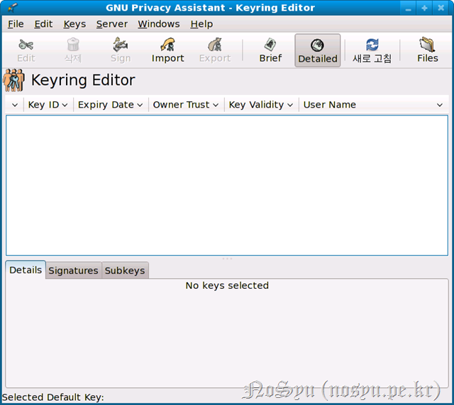 Keyring Editor